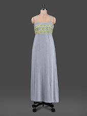 Camisole Neck Cotton Knit Maxi Dress - TAURUS