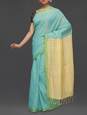 Two Tone Mangalgiri Cotton Saree - Love For The Loom