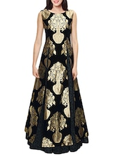 black color, Jacquard Lehenga -  online shopping for lehengas