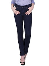 ink blue color, cotton jeans -  online shopping for Jeans