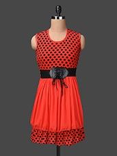 Polka Dot Printed Dual Panel Dress - London Off