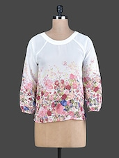 White Floral Printed Top - Instacrush