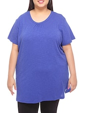 Royal Blue Short-sleeved Cotton T-shirt - By