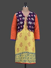 Block Print Kurta With Jacket - Vriddhi