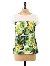 Floral Printed Short Sleeve Top - Fashion205