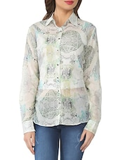 Multicoloured Printed Cotton Blend Shirt - From The Ramp