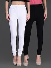 Combo of two cotton lycra leggings -  online shopping for Leggings