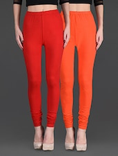 Combo Of Two Cotton Lycra Leggings - Gopps - 1140322