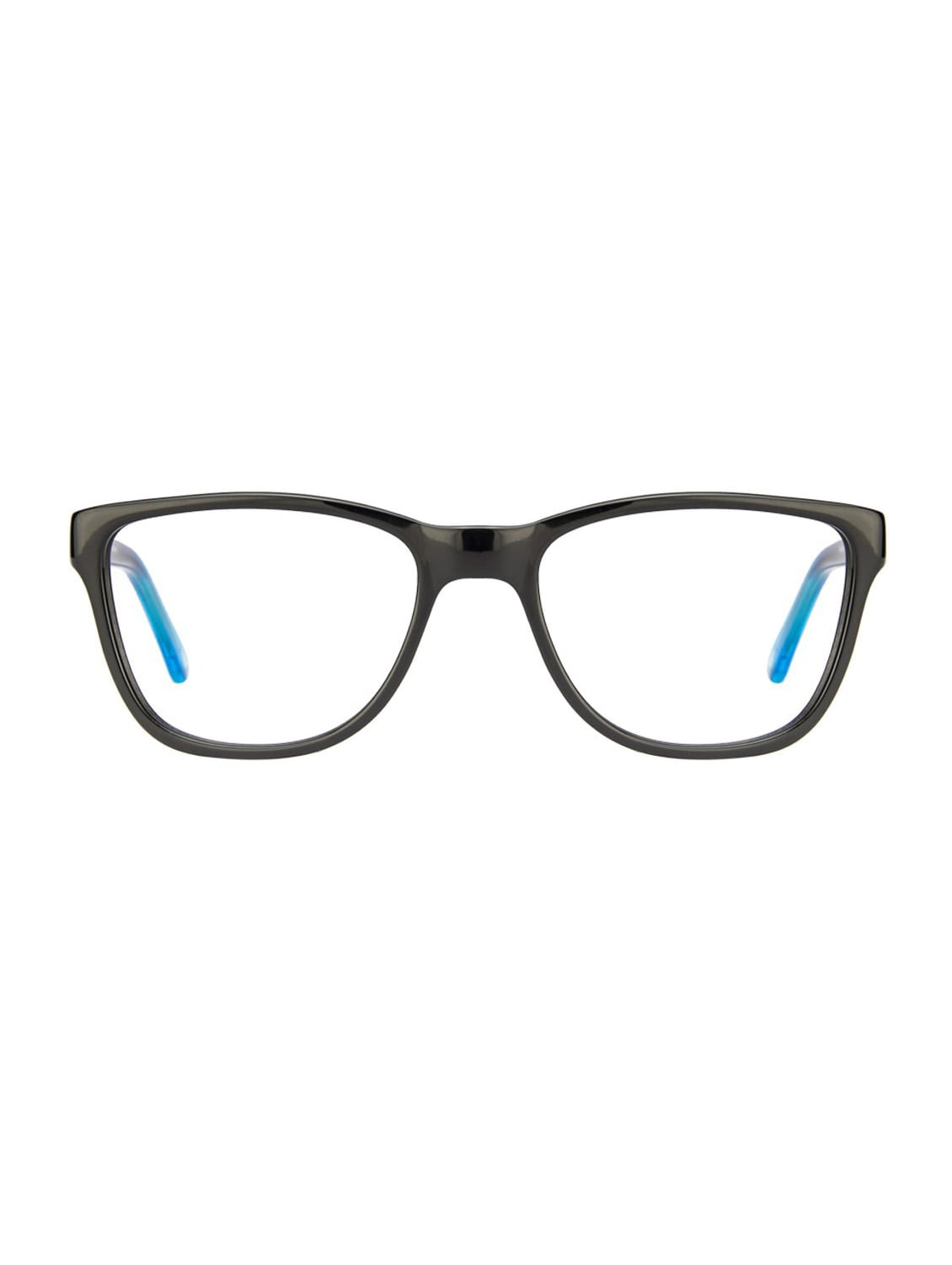 Vincent Chase Premium Vagabond VC 4012 Black Blue Transparent C1 Wayfarer Eyeglasses - By