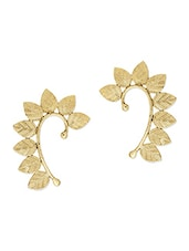 Gold Leaf Ear Cuffs Set Of 2 - The  Jewelbox