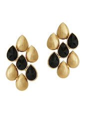 Gold And Black Drop Earrings - The  Jewelbox