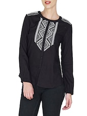 black viscose regular top -  online shopping for Shirts