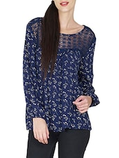 blue rayon top -  online shopping for Tops