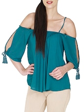 blue viscose  top -  online shopping for Tops