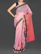 Polka Dot Pattern Brasso Work Art Silk Saree - Prabha Creations