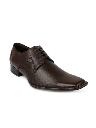 brown formal  leather derby -  online shopping for Derbies