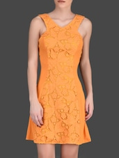 Floral Cutwork Mango Sleeveless Dress - LABEL Ritu Kumar
