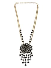 Black Crystal Necklace - By