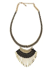 Black Brass Long Necklace - By