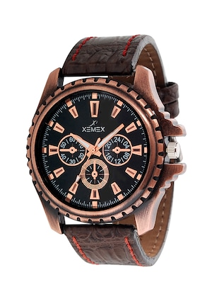 brown color, chronograph watch -  online shopping for Analog Watches
