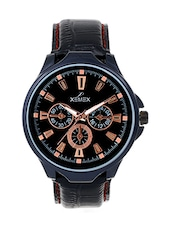 black leather analog watch -  online shopping for Analog Watches