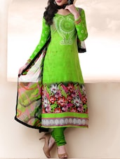 Green Floral Print Suit Set - Fabfirki