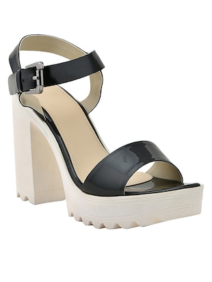 black leatherette(pu back strap sandals -  online shopping for sandals