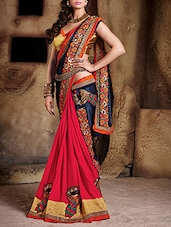 red art silk half and saree -  online shopping for Sarees