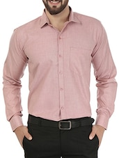 red color, cotton formal shirt -  online shopping for formal shirts