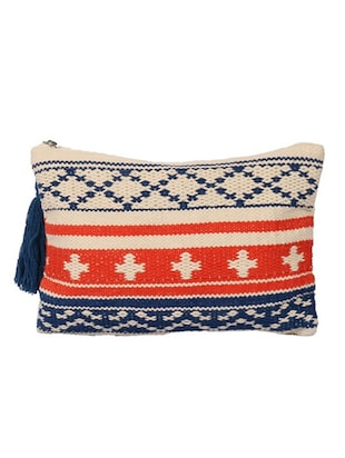 multi color, cotton pouch with jacquard design -  online shopping for Pouches