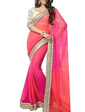 pink ombre saree -  online shopping for Sarees