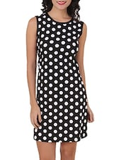 Monochrome Polka Dot Printed Dress - Silk Weavers