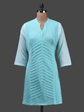 Sky Blue Cotton Kurta - Ekmatra