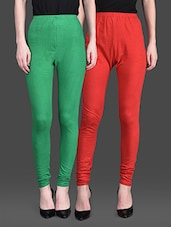 Red And Green Leggings (Set Of 2) - By