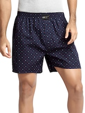 navy blue cotton printed boxer -  online shopping for Boxers