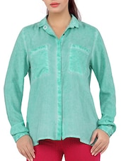 Long Sleeves Solid Rayon Shirt - Liwa