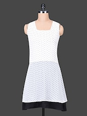 White Sleeveless Printed Dress - Trend Arrest