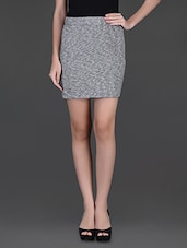 Grey Cotton Viscose Pencil Skirt - Finesse