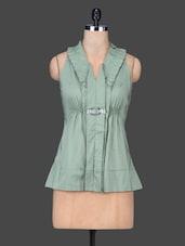 Green Sleeveless Cotton Top - SPECIES