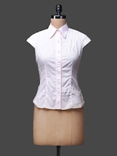 Pink Sleeveless Cotton Shirt Top - SPECIES