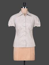 White Plain Cotton Shirt Top - SPECIES