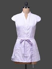 Purple Floral Print Cotton Party Shirt - SPECIES