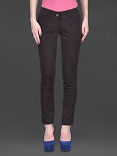 Dark Brown Regular Fit Trousers - SPECIES