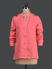 Solid Pink Full Sleeve Shirt - Label VR