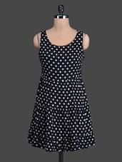 Monochrome Geometric Printed Dress - Label VR