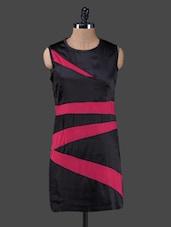 Black & Pink Color Block Bodycon Dress - Peptrends