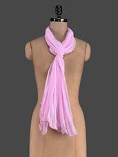 Pink Plain Chiffon Dupatta - Kiala