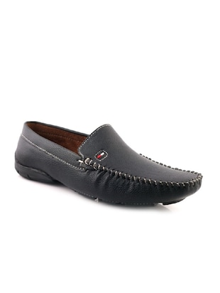 black leatherette slip on loafer -  online shopping for Loafers