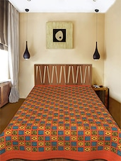 Paisley Pattern Kantha Work Single Bed AC Quilt - Daisy Design - 1150632