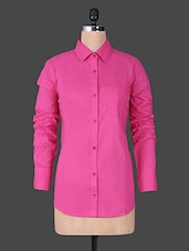 Solid Pink Full Sleeve Shirt - House Of Tantrums